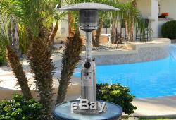 11,000 BTU Portable Stainless Steel Gas Patio Heater Table Top with Refill Adapter