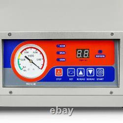 120W Table Top Chamber Vacuum Sealer Digital Vacuum Packing Machine 10 Seal Bar