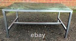 1960s vintage Verde Guatemala marble & stainless steel coffee occasional table