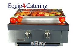 2 Burner Gas Charcoal Char Grill Bbq Heavy Duty For Commercial Use (table Top)
