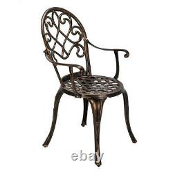 3 Piece Bistro Set Outdoor Garden Patio Table & Chairs Cast Aluminium Furniture
