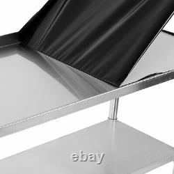 48x24 Stainless Steel Work Bench Kitchen Catering Table Backsplash 2x4FT 1.2mm