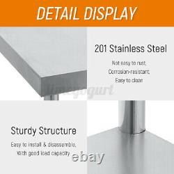 4FT Stainless Steel Commercial Kitchen Work Table Bench Catering Worktop