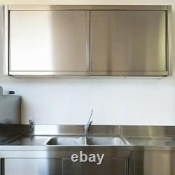 4FT Stainless Steel Wall Cupboard Commercial Over Cabinet for Kitchen Work Table