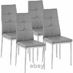 4 Modern dining chairs dining room chair table faux leather furniture cozy grey
