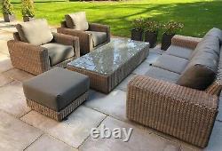 4 seasons outdoor Kingston Lounge Set with Footstool