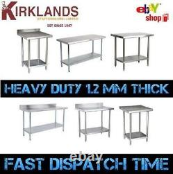 6 Foot 1800mm 6ft Stainless Steel Table Work Bench Catering Table Kitchen Top