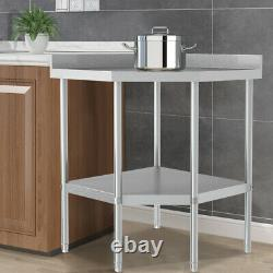 900mm Stainless Steel Commercial Kitchen Prep & Work Table Corner Unit Workbench