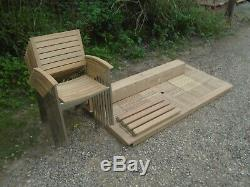 Alexander Rose Garden Furniture Teak Belgrave Table & 8 Cologne Chairs