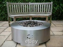 BRIGHTSTAR SATURN LPG Gas Fire Pit Table, Outdoor Garden 18kw Patio Heater UK