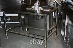 Breading Table with stainless Steel Container not Plastic