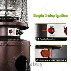 Bullet Outdoor Patio Heater 13kw Table Floor Standing Stainless Steel LP Gas