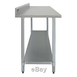 Catering Table Work Bench 6ft Commercial Kitchen Stainless Steel Prep 180 cm