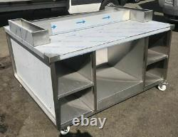 Chicken Display Speed Pack Table Heavy Duty Stainless Steel Castors