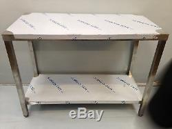 Commercial Kitchen Stainless Steel Catering Work Bench Table 5ft 1500x600
