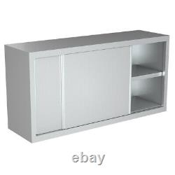 Commercial Kitchen Wall Cupboard Stainless Steel Over Cabinet For Work Table 4FT