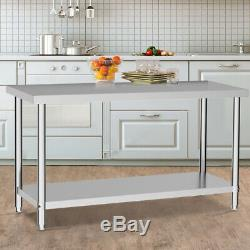 Commercial Prep Catering Table Work Bench Kitchen Dissecting Top Stainless Steel