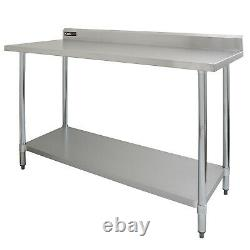 Commercial Table 5FT Stainless Steel Kitchen Prep Work Bench Catering Surface