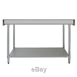 Commercial Table Stainless Steel Kitchen Prep Work Bench Catering Surface 6FT