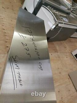 Commercial stainless steel slim table work top with front cover 175x40x90 cm
