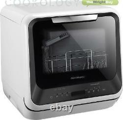 Cookology CMDW2BK BAB01 Mini Portable Dishwasher Table Top with Baby Bottle Rack