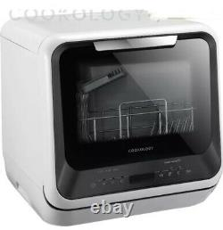Cookology CMDW2BK Mini Portable Dishwasher Table Top with Baby Care & Fruit Wash