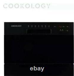 Cookology CTTD6BK Mini Counter Table Top Dishwasher 6 place Setting Black