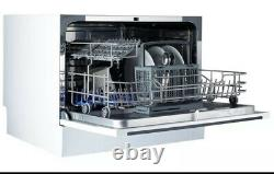 Cookology CTTD6WH Freestanding Compact Table Top Dishwasher 6 Place Settings
