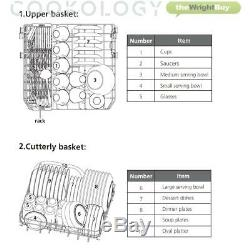 Cookology CTTD8BK Black Table Top Dishwasher 8 place settings XL Mini Countertop