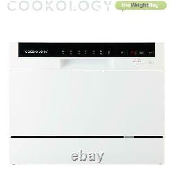 Cookology GRADED CTTD6WH White Table Top Dishwasher, 6 place settings