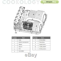 Cookology TCD6WH Touch Control Compact Table Top Dishwasher, 6 place settings