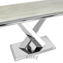 Cream Marble Top Modern Console Table Hallway Side Table Living Room Furniture