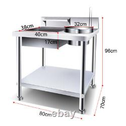 Durable Stainless Steel Breading Table Catering Kitchen Fried Chicken Equipment