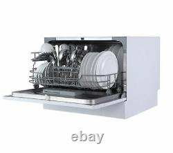 ESSENTIALS CUE CDWTT20 Table Top Dishwasher 6 Place Quick Wash White Currys