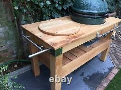 EXTRA LARGE English oak big green egg barbecue table MADE TO ORDER ANY SIZE