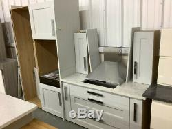 Ex display NEW Matt grey door, island inc granite/stone worktops+solid table