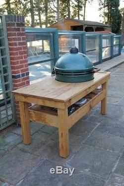 Extra Large English oak big green egg barbecue butchers block table garden