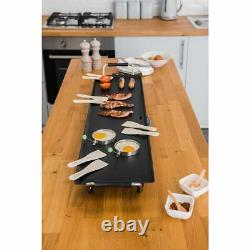 Extra Large Teppanyaki Grill Table Electric Hot Plate Bbq Griddle Camping 2000w
