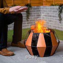 Fire Pit Brazier Mesh Steel Patio Garden Heater Outdoor Table Top BBQ Camping UK