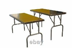 Folding 5' Foot Stainless steel catering prep food preparation table. BRAND NEW
