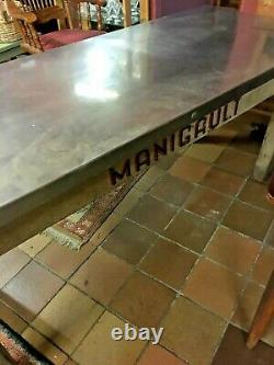 French Bakery/Patisserie Table with stainless steel top