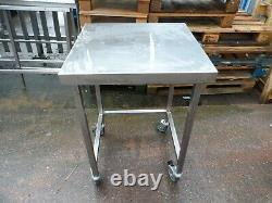 Fully Welded Mobile Stainless Steel Appliance Table 600 x 600 mm £110 + Vat