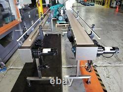 Furex Stainless Steel 10' x 7.5 Inline Conveyor with Plastic Table Top Belt