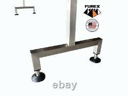 Furex Stainless Steel 6' x 4 Inline Conveyor with Plastic Table Top Belt
