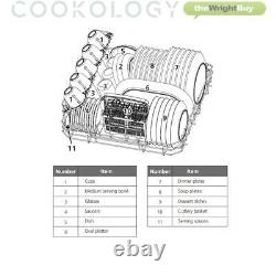 GRADED Cookology CTTD6SL Freestanding Table Top Dishwasher, 6 Places