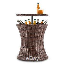 Garden Table Furniture Patio Drinks Cooler Basket Outdoor Weatherproof Balcony