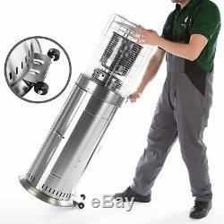 Glow Warm Area Bullet Patio Heater 11kw Table Floor Stainless Steel