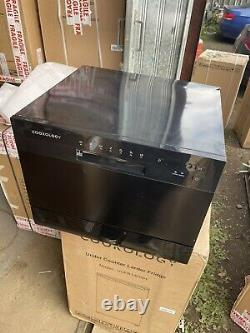 Graded Cookology CTTD6BK Mini Counter Table Top Dishwasher 6 place Setting 5