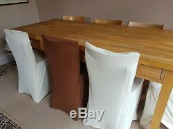 Habitat Beech Dining Table And 8 Chairs