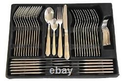 Heavy 84 Piece Gold Cutlery Set Table Stainless Steel Supreme Canteen Christmas